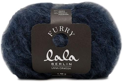 Lala Berlin Furry Trui Breipakket 2 44/46 Black-Blue
