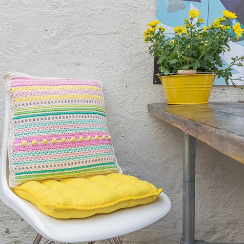 Yarn and Colors Garden Party Cushion Haakpakket