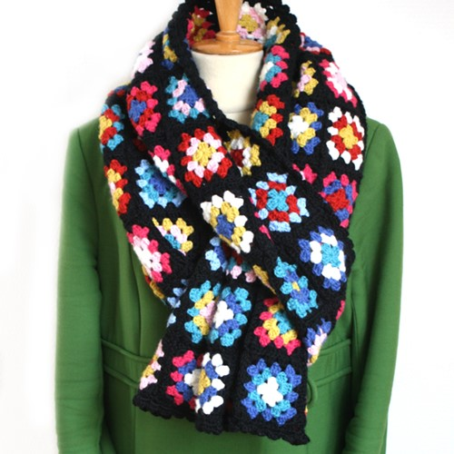 Haakpatroon Basic Merino granny square sjaal
