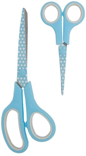 Hemline Set Stoffenschaar (21cm) & Borduurschaar (13,5cm) Blue