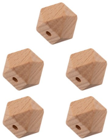 Durable Houten Hexagonkralen 5 stuks 14mm