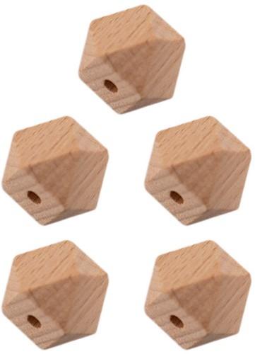 Durable Houten Hexagonkralen 5 stuks 20mm