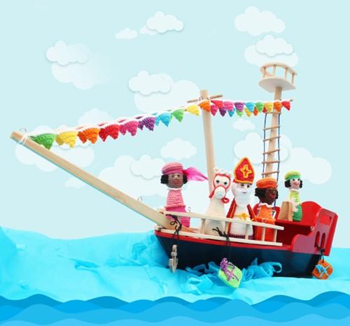 Sint- en Pietenboot haakpakket