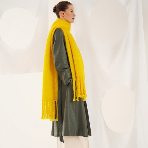 Breipatroon Brigitte No. 3 Sjaal met gevlochten franjes