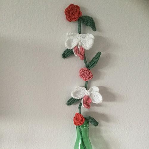 Haakpatroon Bloemen Tak Orchidee