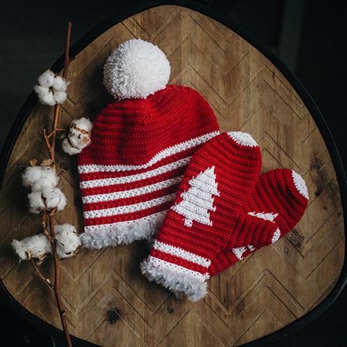 Haakpatroon Merry Kerstmuts Set