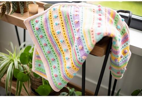 Striped Dot Baby Deken Haakpakket