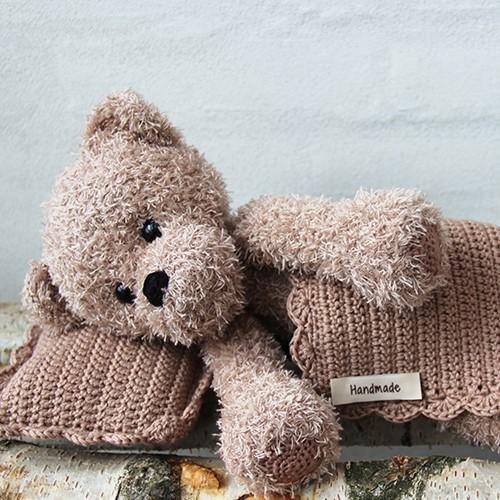 Go Handmade Haakpatroon Teddy met Deken en Kussen Bruin