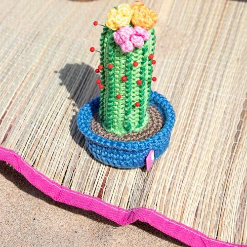 Haakpatroon Cactus speldenkussen met rolmaatje