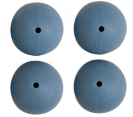 Siliconen Kralen 4 Stuks 33 Jeans Blauw