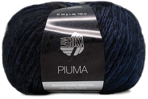 Piuma Kabelvest Breipakket 2 40/42 Jeans / Marine / Grey / Black