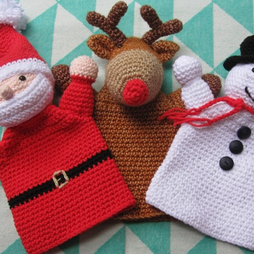 Haakpatroon Kerst Handpoppen