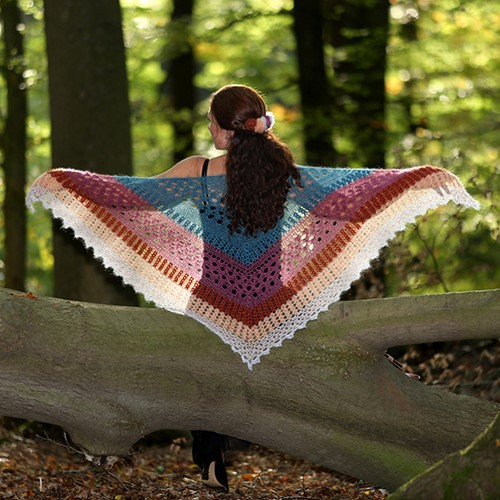 Haakpatroon Mystic Lace Omslagdoek