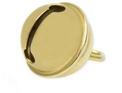 Kattenbel 15 mm goud