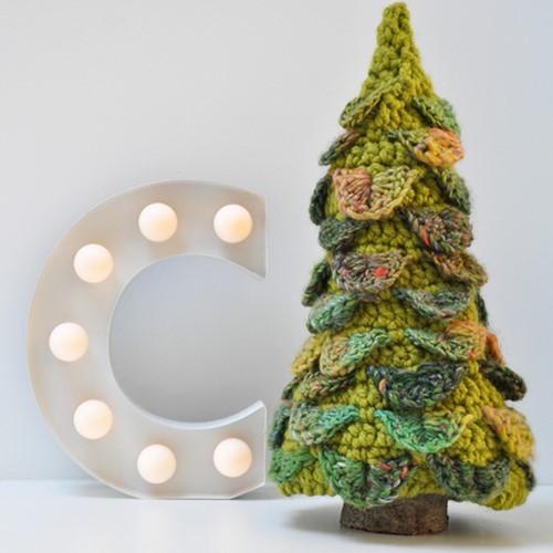Haakpatroon Kerstboom krokodillensteek