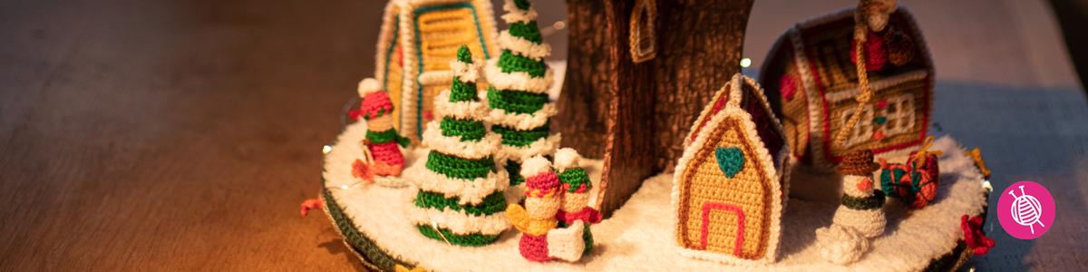 Kerstdorp AdventCALender - Haakpatronen