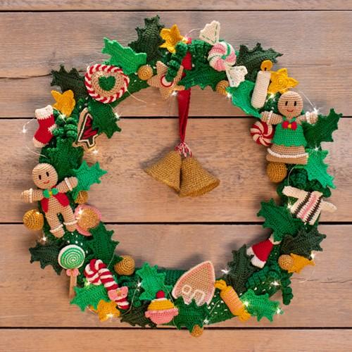 Kerstkrans AdventsCALender 2019 Haakpakket