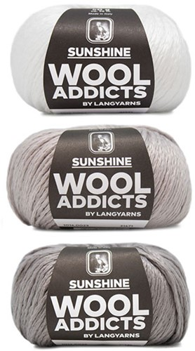 Wooladdicts Strong Spirit Trui Breipakket 1 S/M White/Grey