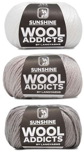 Wooladdicts Strong Spirit Trui Breipakket 1 L/XL White/Grey