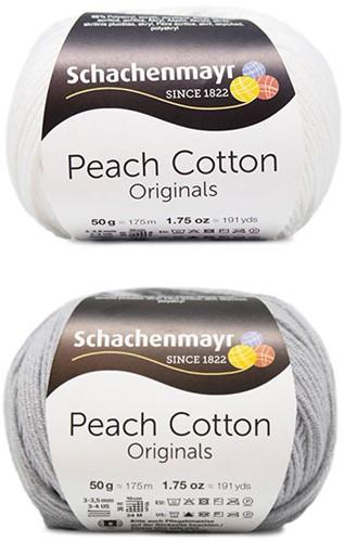 Peach Cotton Ellen Zomervest Breipakket 1 48/50 Silver / White