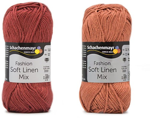 Soft Linen Mix Kalea Zomervestje Haakpakket 1 44/46 Rust / Almond