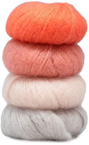 Silkhair Tartan Zomersjaal Haakpakket 1 Soft Pink