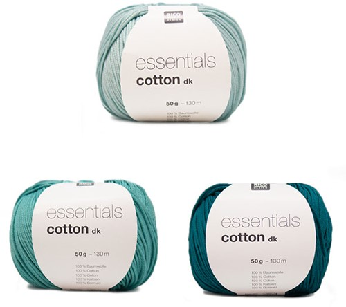 Essentials Cotton Driehoek Sjaal Breipakket 1 Green