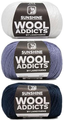 Wooladdicts Strong Spirit Trui Breipakket 2 S/M White/Blue