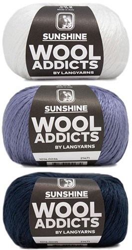 Wooladdicts Strong Spirit Trui Breipakket 2 L/XL White/Blue