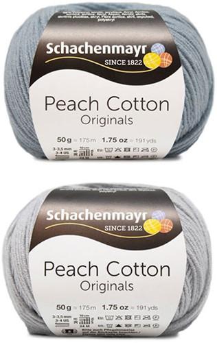 Peach Cotton Ellen Zomervest Breipakket 2 48/50 Silver / Light Denim