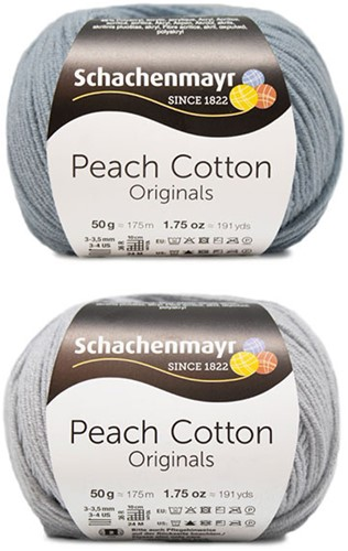 Peach Cotton Ellen Zomervest Breipakket 2 44/46 Silver / Light Denim