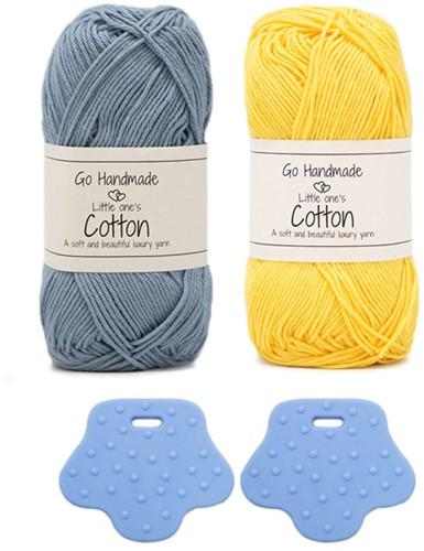 Go Handmade Eend Met Rugzak Haakpakket 2 Blauw