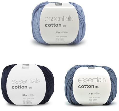 Essentials Cotton Driehoek Sjaal Breipakket 2 Blue