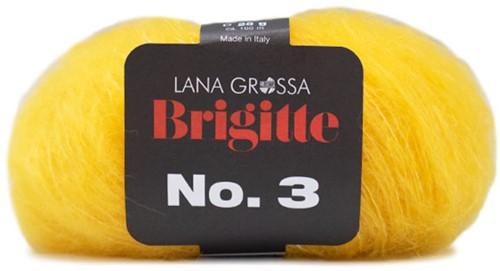 Brigitte no. 3 Sjaal Breipakket 1 Yellow