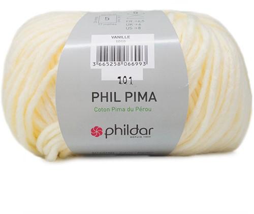 Phil Pima Babyvestje Breipakket 1 12 maanden Vanille