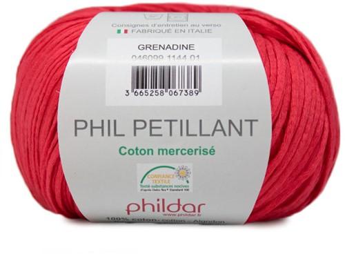 Phil Petillant Zomertop Breipakket 1 34/36 Grenadine