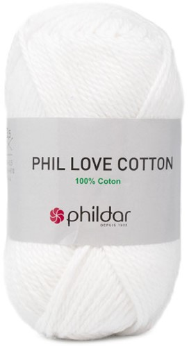 Phil Love Cotton Trui Breipakket 1 46/48 Blanc