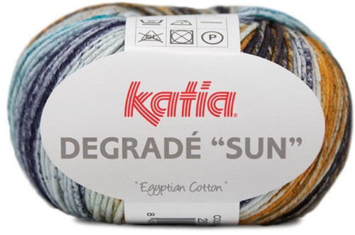 Degradé Sun Vest Haakpakket 1 50/52 Blue / Red