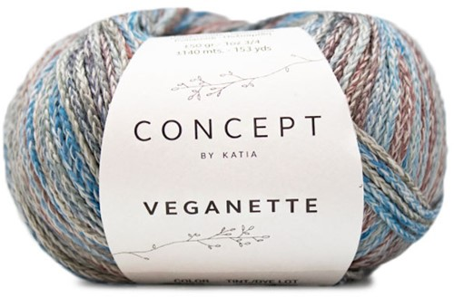 Veganette Kindervest Breipakket 1 8 jaar Wine Red / Stone Grey / Blue
