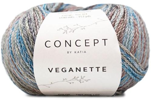 Veganette Kindervest Breipakket 1 10 jaar Wine Red / Stone Grey / Blue