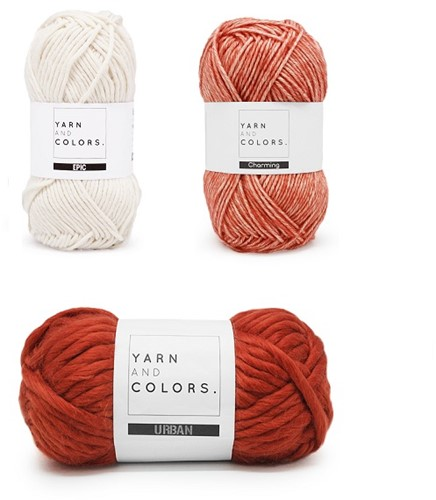 Yarn and Colors Three is a Charm WOW! Muurhanger Pakket 002 Cream / Brich / Chestnut