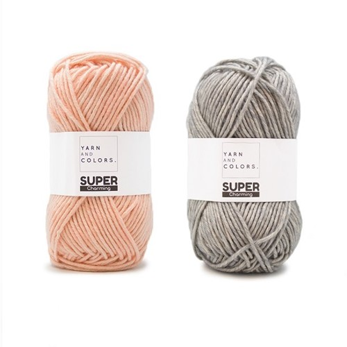Yarn and Colors Double Trouble WOW! Muurhanger Pakket 042 Shadow / Peach