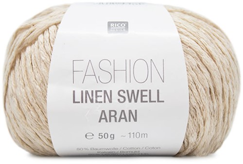 Fashion Linen Swell Aran Vest Breipakket 2 36/40 Nature