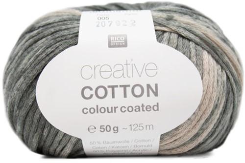 Creative Cotton Colour Coated Vest Breipakket 2 40/42 Grey Mix