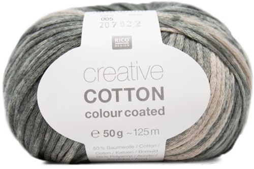 Creative Cotton Colour Coated Vest Breipakket 2 36/38 Grey Mix