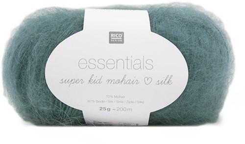 Essentials Super Kid Mohair Silk Vest Breipakket 2 36/38 Teal