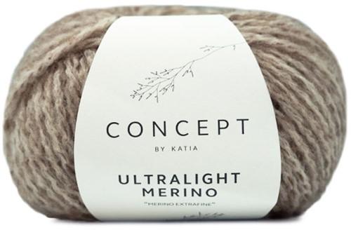 Ultralight Merino Kimono Kabelvest Breipakket 2 XXL