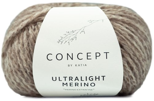Ultralight Merino Kimono Kabelvest Breipakket 2 M