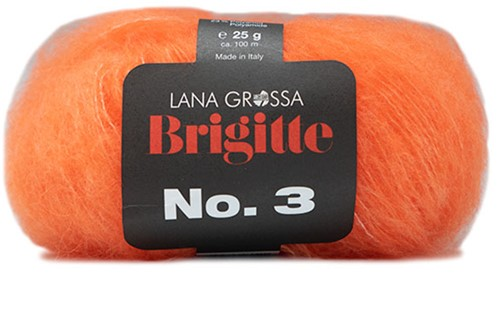 Brigitte no. 3 Sjaal Breipakket 2 Orange