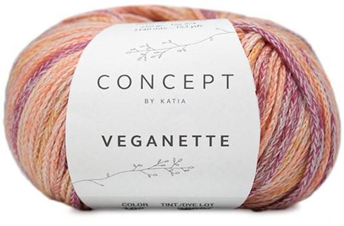 Veganette Kindervest Breipakket 2 4 jaar Rose-Wine / Red-Ochre
